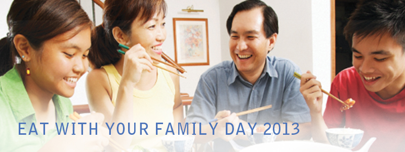 Eat With Your Family Day 2013